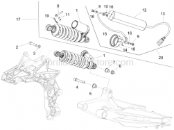Suspensions - Shock Absorber - Aprilia - SCREW STEEL BRACKET