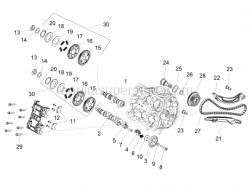 Engine - Front Cyliner Timing System - Aprilia - Belleville spring