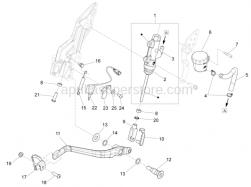 Brake System - Rear Master Cylinder - Aprilia - Rear Brake lever push