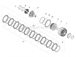 Engine - Clutch - Aprilia - Hex socket screw M6