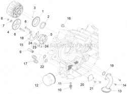 Engine - Oil Pump - Aprilia - Oil pressure adjusting valve