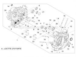 Engine - Crankcases II - Aprilia - Bushing,blue