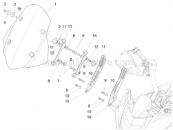 Body - Windshield - Aprilia - LH SUPPORT
