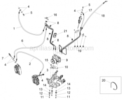 Brake System - ABS Brake System - Aprilia - PRESSURE MODULATOR CORA