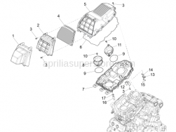 Engine - Air Box - Aprilia - Filtering element