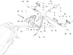 Lights - Instruments - Rear Lights - Aprilia - Rubber spacer