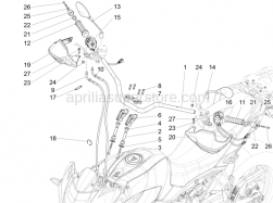 Handlebar - Controls - Handlebar - Controls - Aprilia - Black hose 178x4