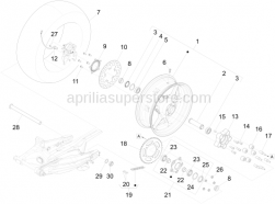 Wheels - Rear Wheel - Aprilia - Crown holder cpl.