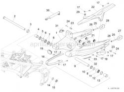 Frame - Swing Arm - Aprilia - Rear wheel spindle nut