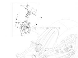 Brake System - Rear Brake Caliper - Aprilia - Spring+plate