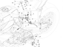Handlebar - Controls - Clutch Control - Aprilia - Oil tank plate