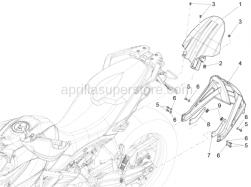 Body - Rear Mudguard - Aprilia - Hex socket screw M5x9