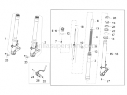 Suspensions - Front Fork II - Aprilia - Screw w/ flange