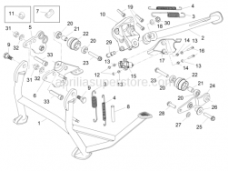 Frame - Central Stand - Aprilia - Screw w/ flange M8x25