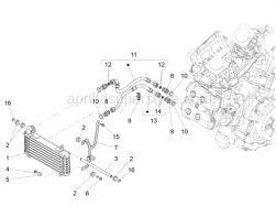 Cooling System - Oil Radiator - Aprilia - Self-locking nut M6