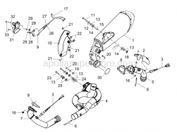 Engine - Exhaust Pipe - Aprilia - Self-locking nut M8
