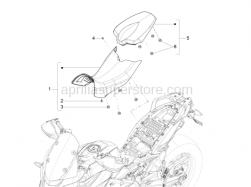 Body - Saddle - Aprilia - Screw w/ flange M5x12