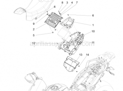 Body - Saddle Compartment - Aprilia - Screw w/ flange M5x12