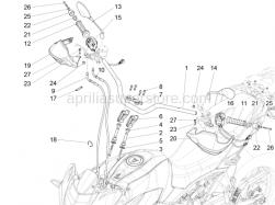 Handlebar - Controls - Handlebar - Controls - Aprilia - Screw w/ flange M10x75