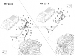 Engine - Blow-by System - Aprilia - Phillips screw, SWP M5x20