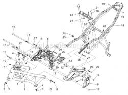 Frame - Frame - Aprilia - Screw w/ flange M5x9