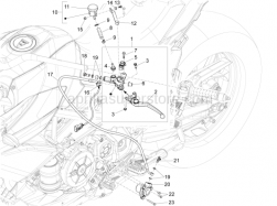 Handlebar - Controls - Clutch Control - Aprilia - Rear brake pump union