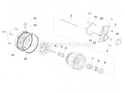 Engine - Clutch Cover - Aprilia - Clutch disengagement flange