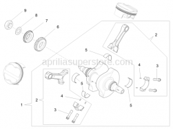 Engine - Drive Shaft - Aprilia - Water pump pinion