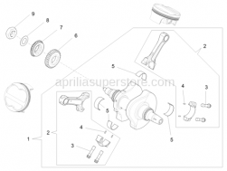 Engine - Drive Shaft - Aprilia - COMP. CRANKSHAFT WITH CONNECTING RODS