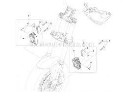 Brake System - Front Brake Caliper - Aprilia - PADS SPRING-PIN-CLIP