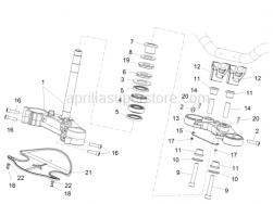 Handlebar - Controls - Steering - Aprilia - Cap