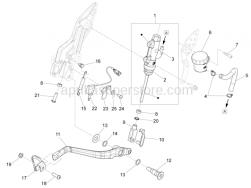 Brake System - Rear Master Cylinder - Aprilia - BRAKE PUMP