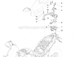 Body - Luggage Rack - Aprilia - Screw