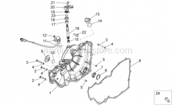 Engine - Clutch Cover - Aprilia - Screw w/ flange