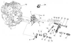 Engine - Engine - Aprilia - Rear brake lever pin