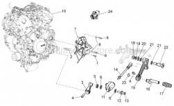 Engine - Engine - Aprilia - Gear lever