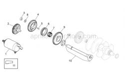 Engine - Ignition Unit - Aprilia - Electric starter gear Z=11/64