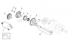 Engine - Ignition Unit - Aprilia - Grey starter motor Mitsuba