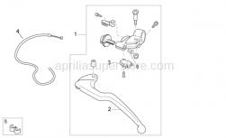 Frame - Clutch Lever - Aprilia - Clutch lever cpl.