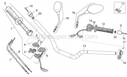 Frame - Controls - Aprilia - Cable-guide D8