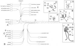 Frame - Electrical System I - Aprilia - Rubber spacer *