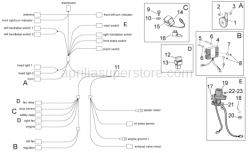 Frame - Electrical System I - Aprilia - Main switch - steering lock