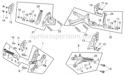 Frame - Foot Rests - Aprilia - LH Foot rests