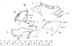 Frame - Front Body II - Aprilia - Cable-guide