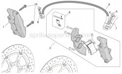 Frame - Front Brake Caliper - Aprilia - M432 right front caliper