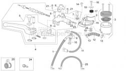 Frame - Front Master Cylinder - Aprilia - Oil brake tank supp.