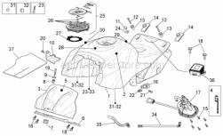 Frame - Fuel Tank - Aprilia - Screw w/ flange M5x9