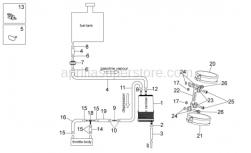 Frame - Fuel Vapor Recovery System - Aprilia - Hose clip, green D11x6,6x1