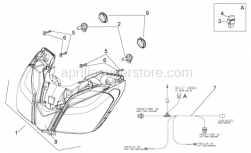 Frame - Headlight - Aprilia - Headlight wiring w/harness