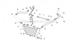 Frame - Oil Radiator - Aprilia - Hex socket screw